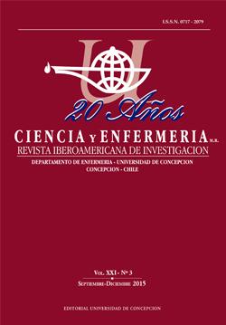 Revista Ciencia y Enfermería Volumen 21 N3