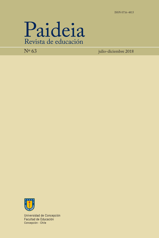 Paideia. Revista de Educación número 63 julio - diciembre año 2018