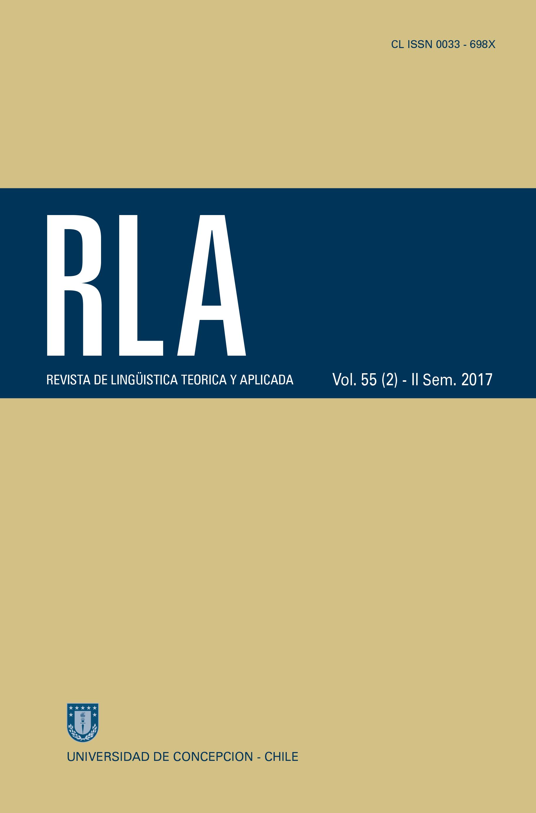 Revista de Linguística Teórica y Aplicada Vol. 56 N°2 (2017)