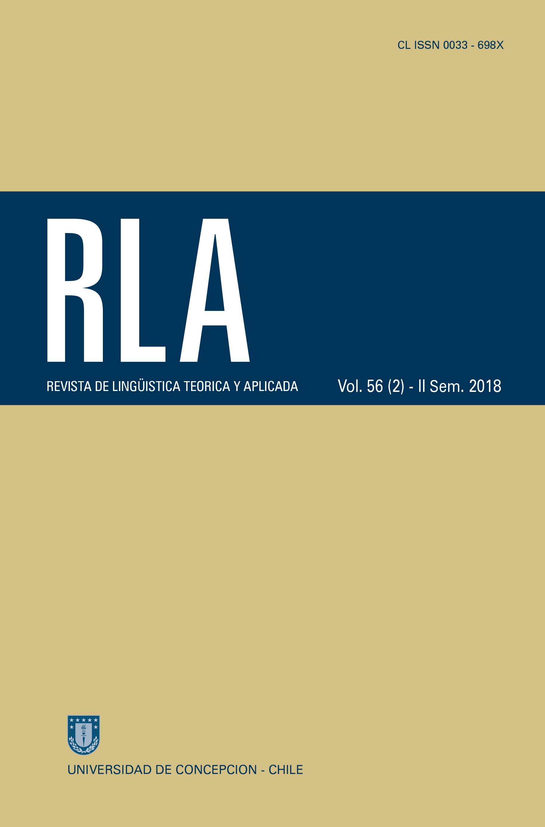 Revista de Linguística Teórica y Aplicada Vol. 56 N°2 (2018)